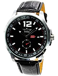 自動巻き 腕時計 メンズ 革ベルト ビッグフェイス バック スケルトン ウォッチ BCG15