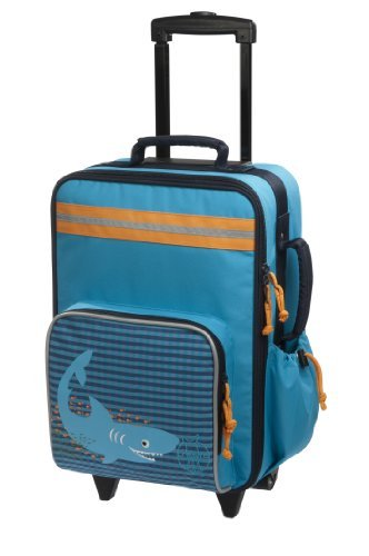 Lassig Sturdy Children's Trolley Rolling Suitcase, Ocean Shark [並行輸入品]