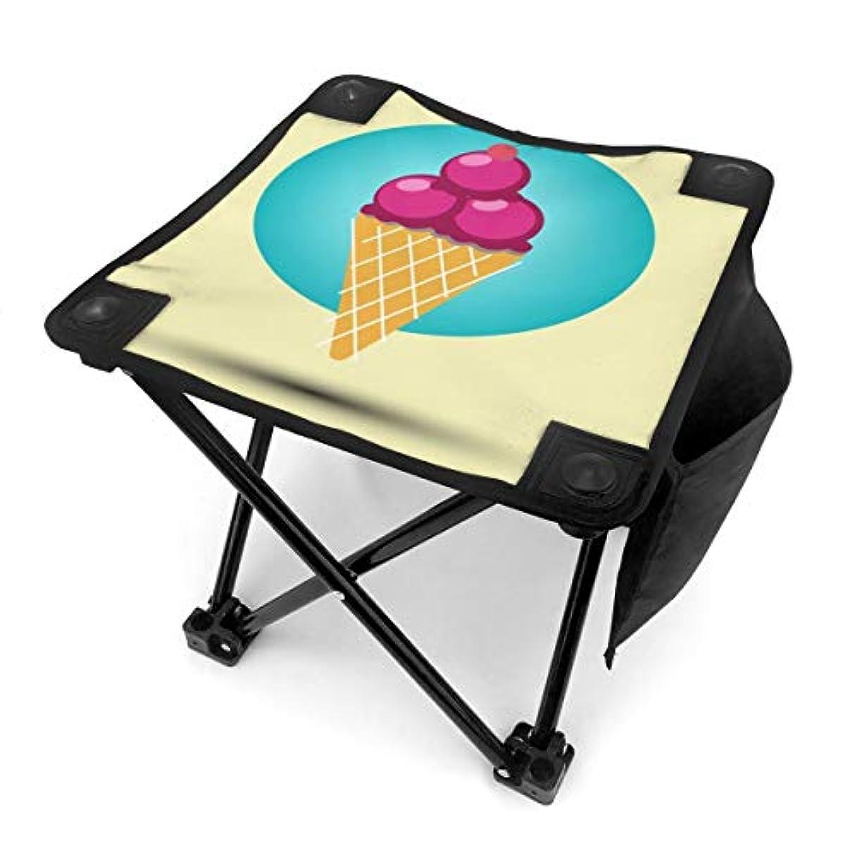 データモードリン遺跡折りたたみ椅子 アイスクリーム アウトドアチェア 収納バッグ付き アウトドアチェア 折り畳み式 椅子 折りたたみ コンパト椅子 キャンプスツール 携帯便利 旅行用/お釣り/キャンプ/アウトドアなど対応