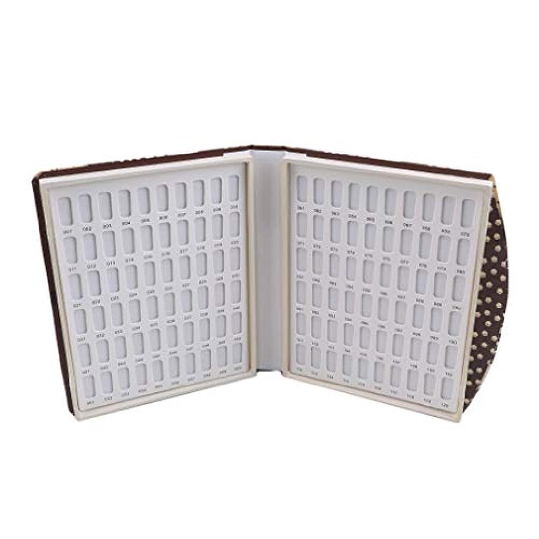 熱心立派な摂氏Largesoy カラーチャートブック 折り畳み式 ネイルマニキュアカラー色見本 ネイルカラーチャート 120色/80色 サンプル帳 色見本帳 1# 長さ*幅*厚さ22*19*3cm