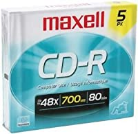 Maxell 623205/ 64820580-minute / 700MB cd-rs (5pk ;スリムケース)