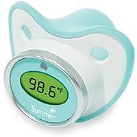 夏幼児おしゃぶり温度計、ティール/ホワイト