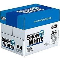 ==まとめ== ・TANOSEE・PPC用紙・SNOW・WHITE・75・A4・1箱==2500枚:500枚×5冊== ・-×10セット-