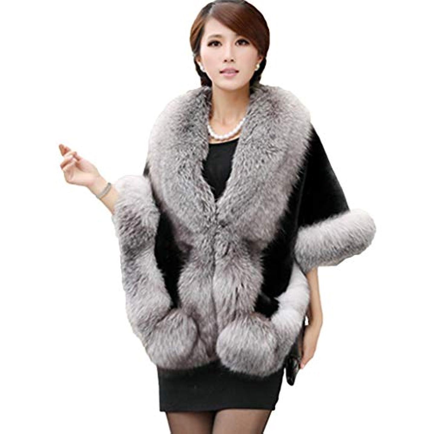 オーブンぺディカブ旋律的ZUOMAレディース スカーフ ショール ストール もふもふ ロング 毛皮コート