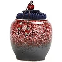 ポータブルTraval Ceramics Small Tea Tins withリップ