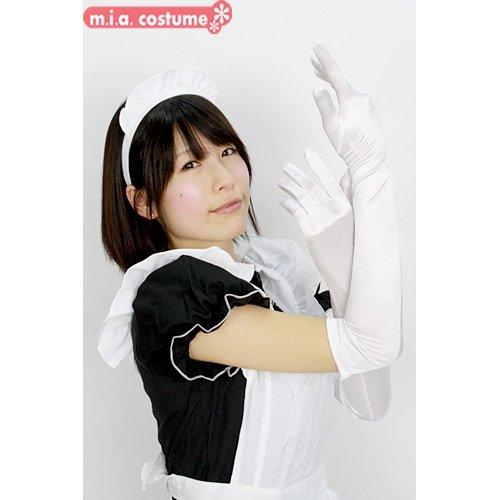 サテン手袋 色:白 サイズ:F
