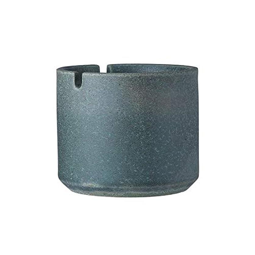 発生スカーフ泥だらけクリエイティブレトロ灰皿、ホームベッドルーム、屋外ガーデン、カジュアルな灰皿、スタイリッシュなセラミック灰皿、 (色 : 緑)