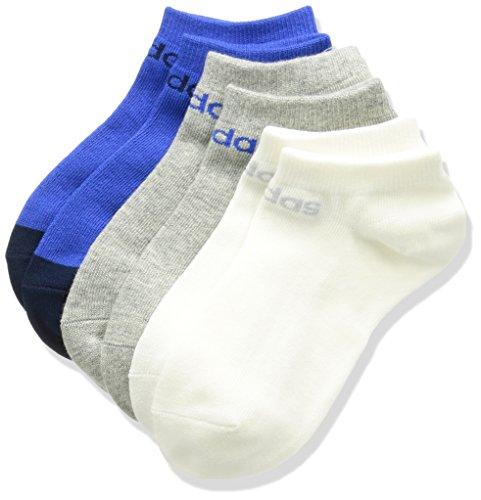 (アディダス) adidas トレーニングウェア BC 3PP カラーブロックアンクルソックス BHV61 [ユニセックス] BHV61 CD5150 ホワイト/ブルー/ミディアムグレイヘザー 24-26cm