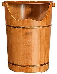 LJHA 木製フットバス用バケツ - フタフットマッサージ洗面器で60cm / 23.6インチの高さ 足浴槽