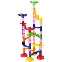 Amiu 50pcs 3D迷路ボール 知育 玩具 組み立て 男の子 女の子 贈り物 誕生日プレゼント 子供 積み木