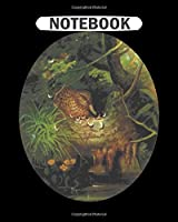 Notebook: circular wild duck drawing  College Ruled - 50 sheets, 100 pages - 8 x 10 inches
