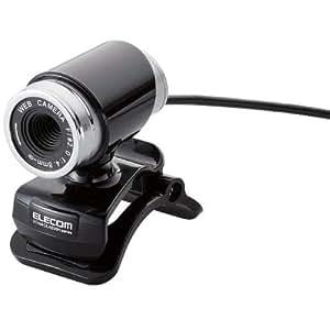 【2011年モデル】ELECOM WEBカメラ 200万画素 1/4インチCMOSセンサ ガラスレンズ搭載 筒型 イヤホンマイク付 ブラック UCAM-DLA200HBK