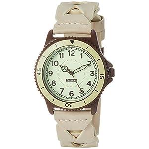 [フィールドワーク]Fieldwork 腕時計 ファッションウォッチ アフリカ アナログ 蓄光 革ベルト ホワイト QKD053-1