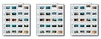 印刷ファイル2x 2–20bアーカイブストレージページfor 20スライド–25pc–050–02703パック