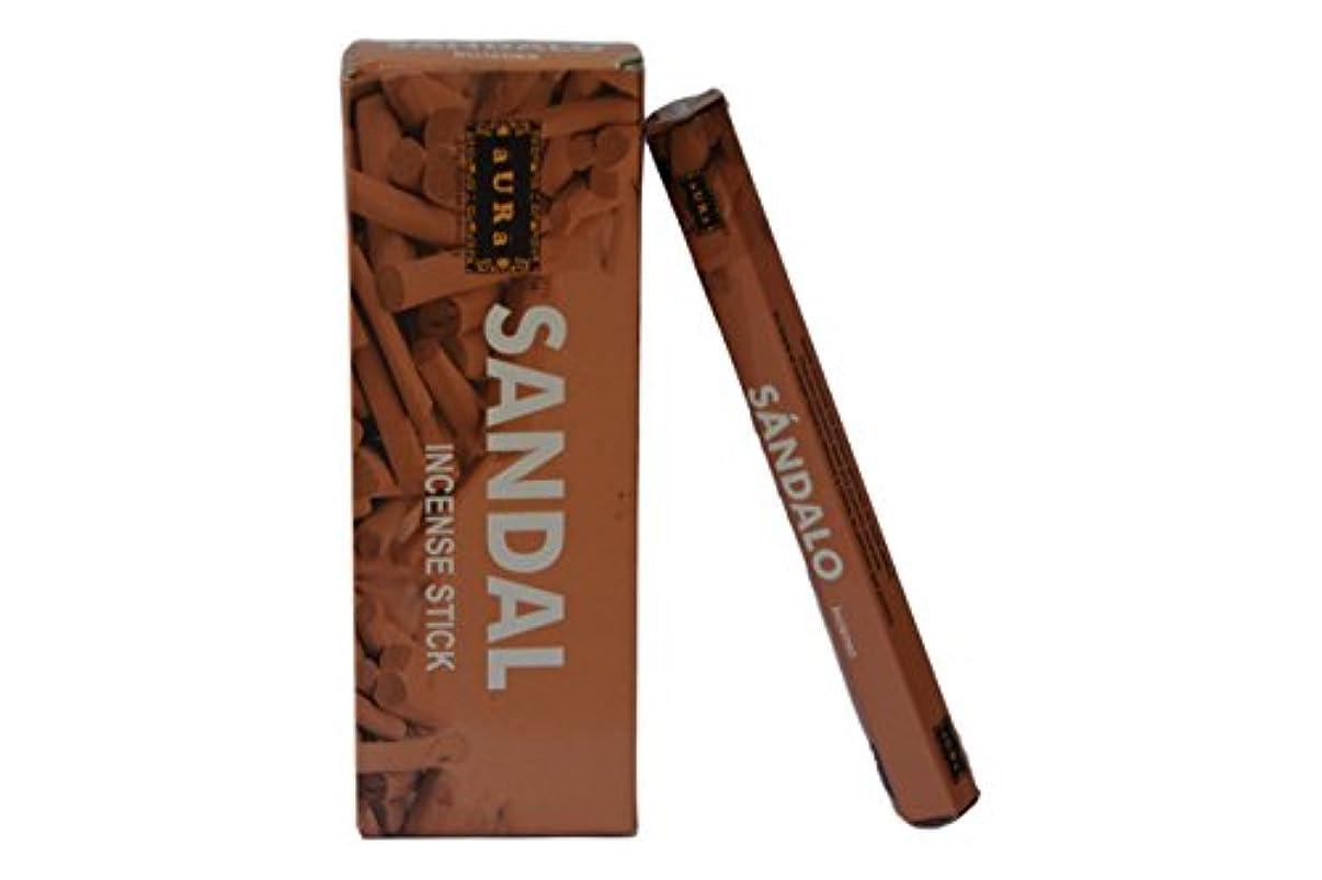 腰アーティキュレーションのりオーラサンダル香りつきIncense Sticks、プレミアム天然Incense Sticks、六角packing- 120 Sticks
