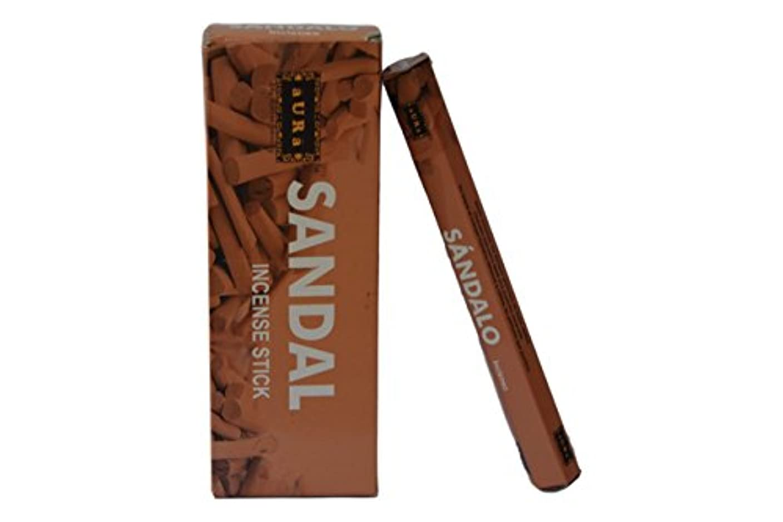 ハイキングネブ叙情的なオーラサンダル香りつきIncense Sticks、プレミアム天然Incense Sticks、六角packing- 120 Sticks