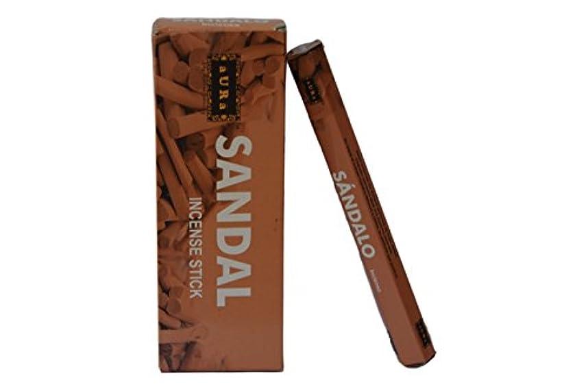 コミット六分儀レパートリーオーラサンダル香りつきIncense Sticks、プレミアム天然Incense Sticks、六角packing- 120 Sticks