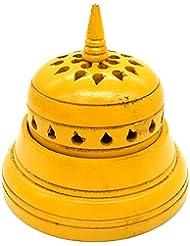 WhopperIndia 4インチのテンプルの形状のお香立て。 アロマセラピー、ゼン、スパ、ヴァストゥ、レイキチャクラセッティングに最適なギフト。