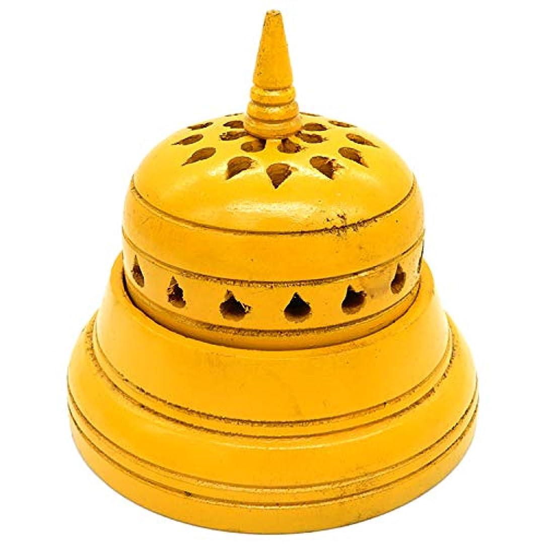 従事する完璧彫るWhopperIndia 4インチのテンプルの形状のお香立て。 アロマセラピー、ゼン、スパ、ヴァストゥ、レイキチャクラセッティングに最適なギフト。
