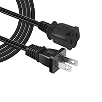 Hisonde Outletセーバー電源延長コードケーブル2-prong 2コンセントfor Nema 5–15p to NEMA 5–15r 1-Pack/4.92ft/1.5m ブラック