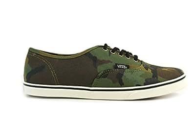 VANSヴァンズ  バンズAUTHENTIC LOPRO オーセンティックロープロCAMO MILITARYOLIVE/MARSH(ミリタリーオリーブ/マーシュ)レディース シューズ 緑 靴 迷彩 ローカット グリーン MILITARYOLIVE MARSH,US7.5(約24cm)