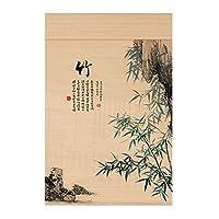 CHAXIA 竹ロールスクリーン竹はウィンドウシェードを竹すだれ竹製カーテン 印刷 バルコニー 勉強部屋 カーテン パーティション、 2つの様式、 カスタマイズ可能 (Color : A, Size : 85x150cm)