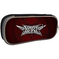 ペンケース babymetal ベビーメタル logo 筆箱 ペン立て大容量 ペンを包んで 多機能 文具収納 文具ケース Black
