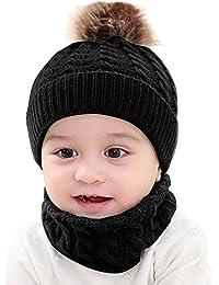 72c805e8e136d ベビー ニット帽子 マフラー 2点セット キッズ 赤ちゃん 子供用 Kukoyo春秋冬 毛糸 ニットキャップ ハット レッグウォーマー ネックカバー  無地 暖かい 柔らかい…