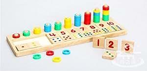 木の数遊び 木製 子供 幼児 教育 おもちゃ/知育玩具