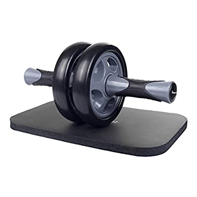 KYLIN SPORT アブホイール エクササイズウィル スリムトレーナー 腹筋ローラー 超静音 膝を保護するマット付き 全2色 (グレー)