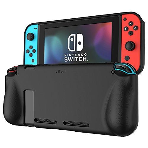 Nintendo Switch ケース, JEDirect ニンテンドースイッチ専用 カバー 衝撃吸収 擦り傷防止 全面保護 ソフトケース (ブラック)