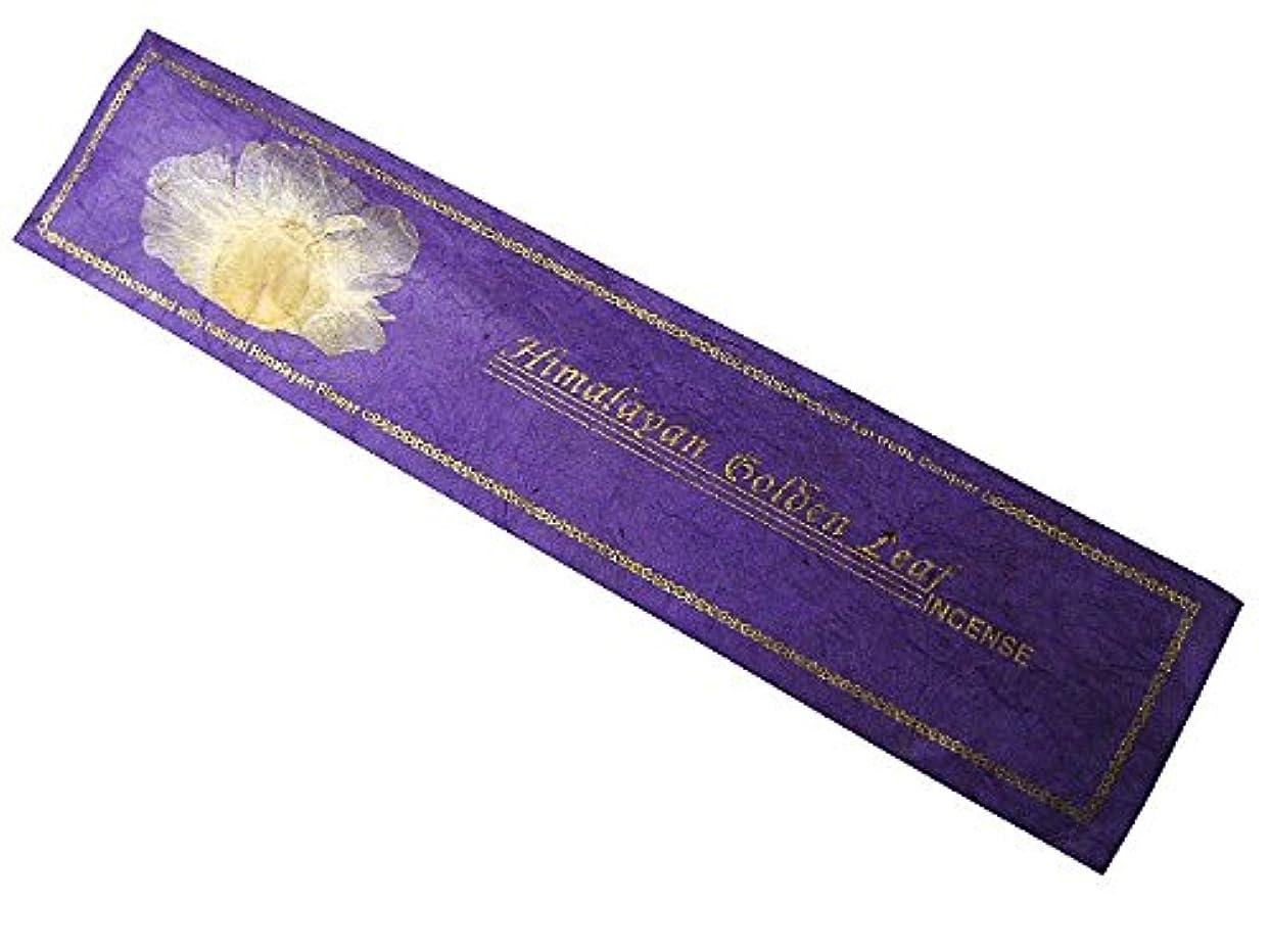間隔インサート気を散らすNEPAL INCENSE ネパールのロクタ紙にヒマラヤの押し花のお香【HimalayanGoldenLeafヒマラヤンゴールデンリーフ】 スティック