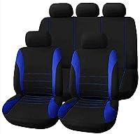 ユニバーサルカーシートカバーキット9ピースフルシートカバー用オートカーシートプロテクト高級通気性メッシュシートカバー