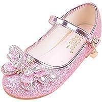 通用 HB Girls Princess Ballet Shoes Plat Glitter Bowknot for Dress Pretty Girl