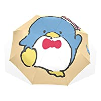 AyuStyle 折り畳み傘 レディース 手開き 日傘 ペンギン 可愛い 三つ折り畳み UVカット 晴雨兼用 耐風 黒い裏地 遮光遮熱 8本骨 折りたたみ傘
