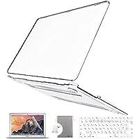 Belk MacBook Air 13 ケース 4点のセット全6色 [日本語 キーボード カバー+液晶保護フィルム+ポーチ+マックブック エア 13.3インチ ハードケース] (クリア)