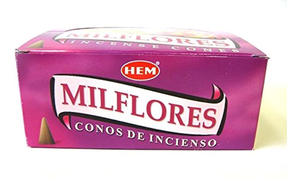 極地過敏なアーサーコナンドイルHEM お香 ミルフローレス香(MILFLORES) コーンタイプ 1ケース(12箱入り) お香コーン