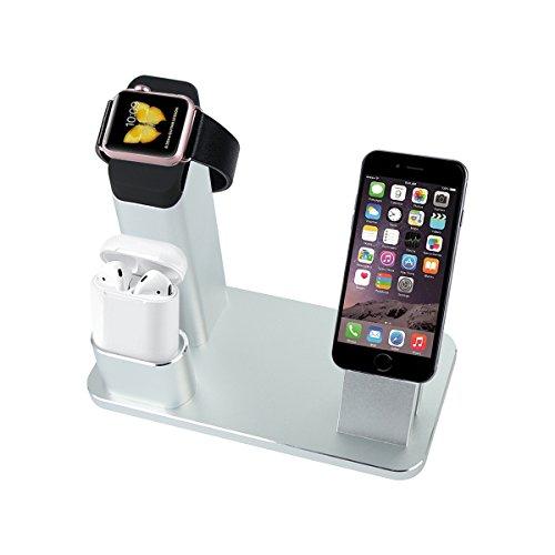 アップルウォッチ iPhone 充電スタンド アルミニウム 4イン1 ホルダ...