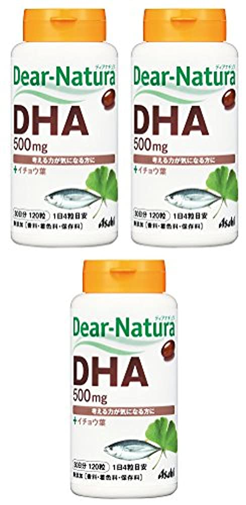 ヒロインテンポ好色な【まとめ買い】ディアナチュラ DHA With イチョウ葉 120粒×3個