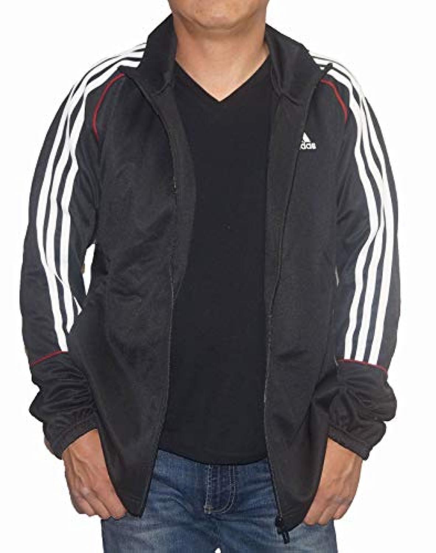 アディダス adidas トラックジャケット 黒 ジャージ トレーニングウエア メンズ