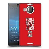 オフィシャル Liverpool Football Club ステンシル・レッド You'll Never Walk Alone クレスト ソフトジェルケース Microsoft Lumia 950 XL