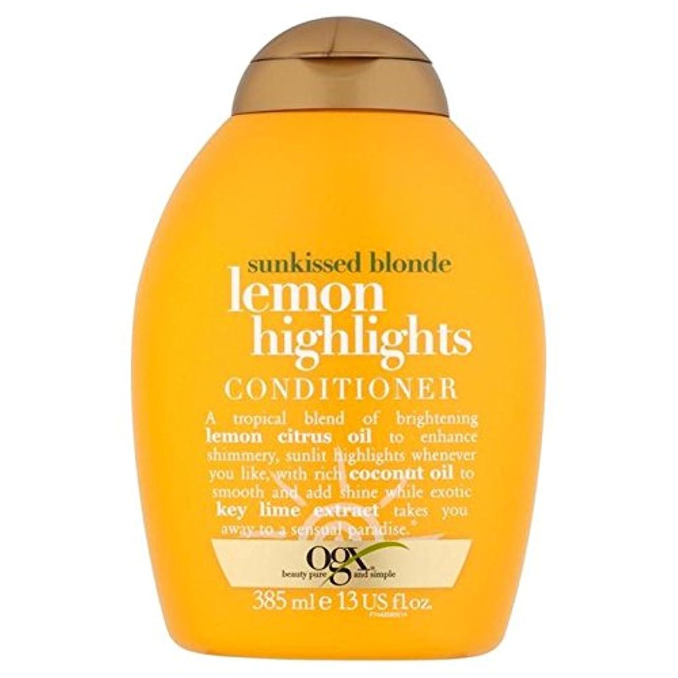 相互接続先行する取り除くブロンドレモンハイライトコンディショナー385ミリリットル x4 - Ogx Blonde Lemon Highlights Conditioner 385ml (Pack of 4) [並行輸入品]