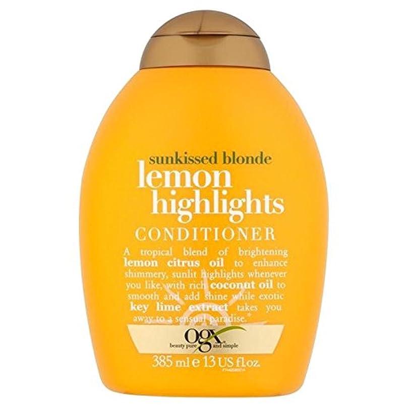 影響力のある飛ぶ寓話ブロンドレモンハイライトコンディショナー385ミリリットル x4 - Ogx Blonde Lemon Highlights Conditioner 385ml (Pack of 4) [並行輸入品]