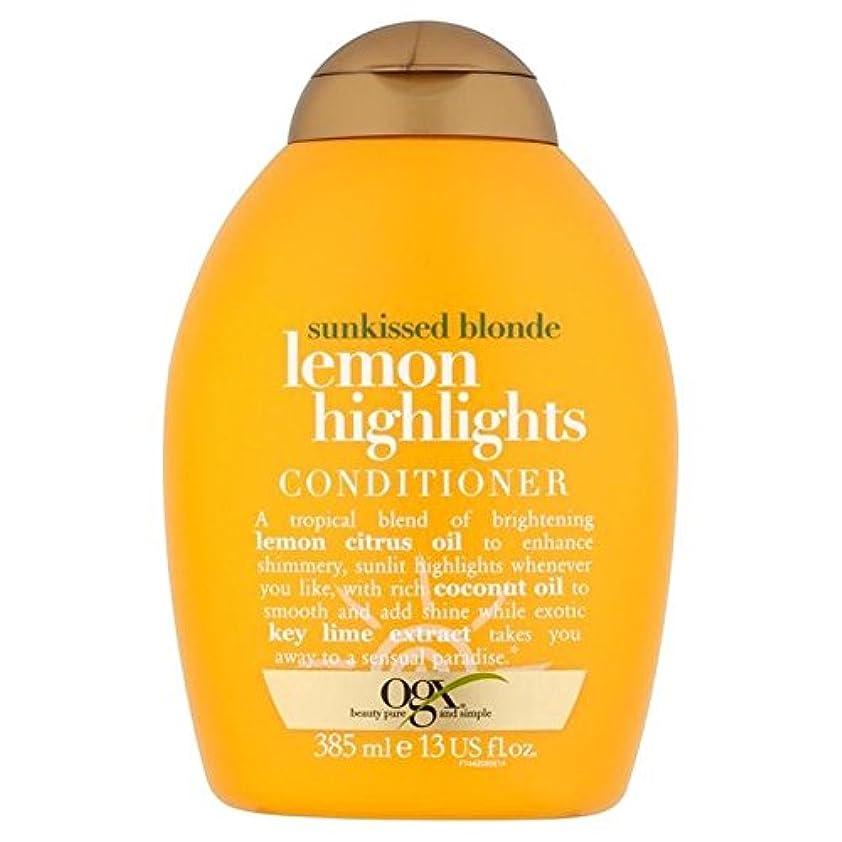 学校教育エラー元気ブロンドレモンハイライトコンディショナー385ミリリットル x2 - Ogx Blonde Lemon Highlights Conditioner 385ml (Pack of 2) [並行輸入品]