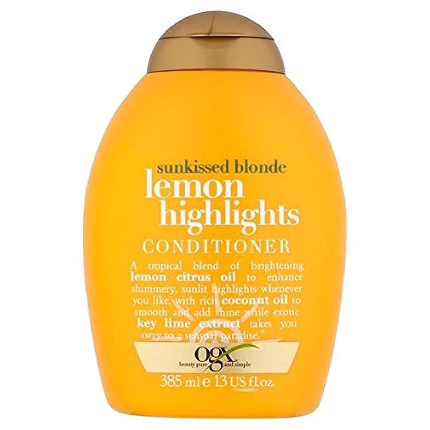 もっと然とした名義でOgx Blonde Lemon Highlights Conditioner 385ml (Pack of 6) - ブロンドレモンハイライトコンディショナー385ミリリットル x6 [並行輸入品]