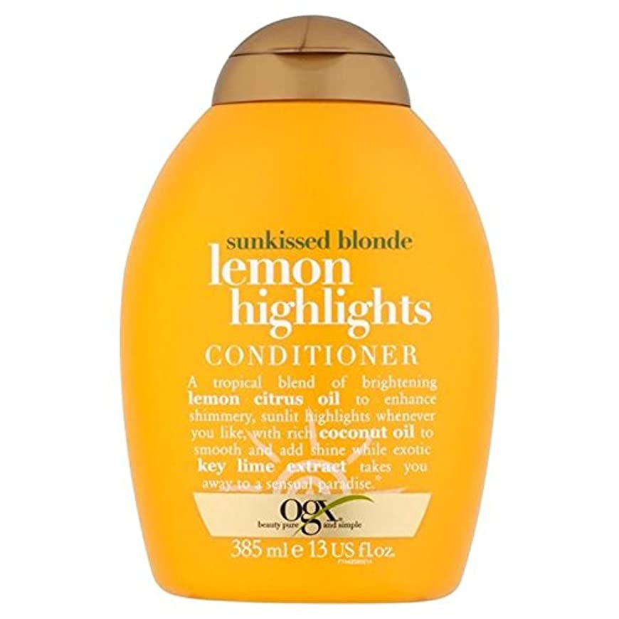 速い少数重大ブロンドレモンハイライトコンディショナー385ミリリットル x4 - Ogx Blonde Lemon Highlights Conditioner 385ml (Pack of 4) [並行輸入品]