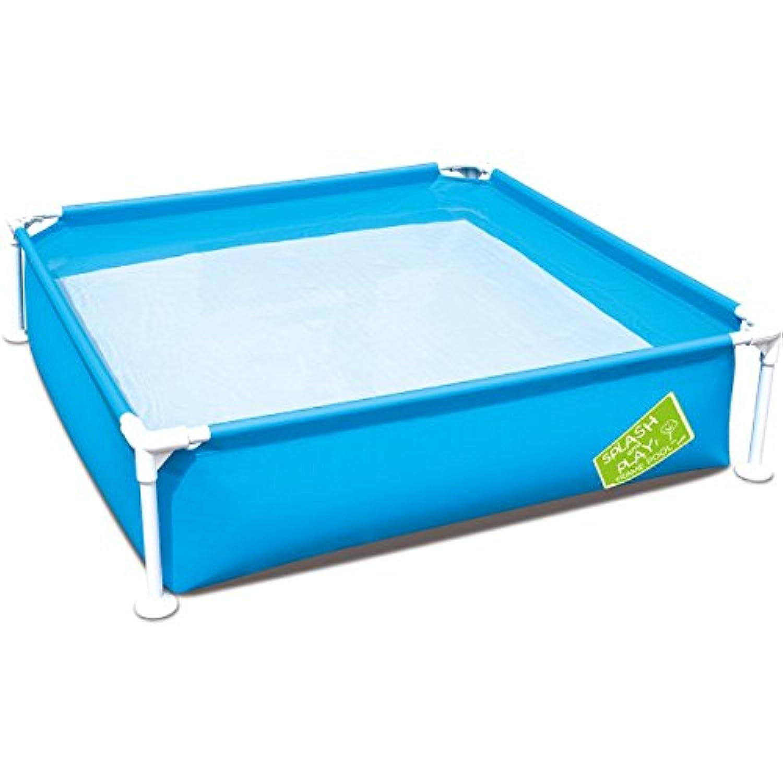 FIELDOOR フレームプール 120cm×120cm×30cm (ブルー) ポンプいらずの簡単設置 家庭用プール