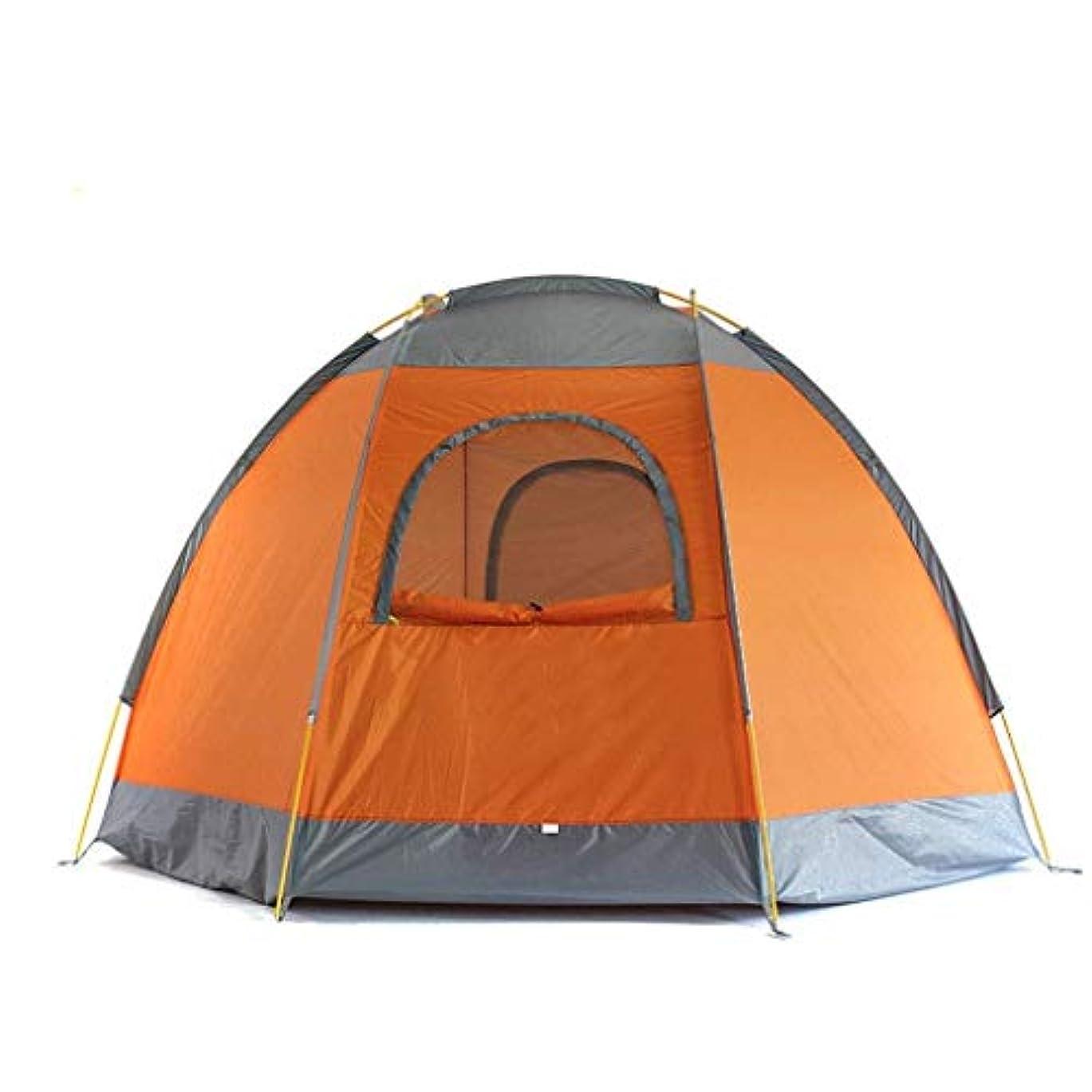 責ピット起点キャンプテント屋外3-4人二重厚い防雨大スペース家族テント