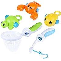 iPlay iLearn Fishing Rod Water Toy Fishin Bath Toys Kids Bathtub Net Game Bath Tub Bathroom Pool Set Bath Fun Time Gift for Ages 1 2 6 12 18 24 Months Years Old Baby Boys Girls Toddler [並行輸入品]