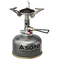 ソト(SOTO) マイクロレギュレーターストーブ SOD-300S キャンプストーブ OD缶用 シングルバーナー キャンプ ガス バーナー 火力が強い ソロキャンプ ツーリング BBQ 登山アウトドア 収納ケース付き 折り畳み式 防風